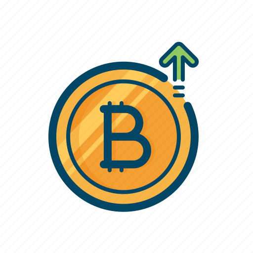 bitcoin, growth, hike, increase, price, rate, send icon