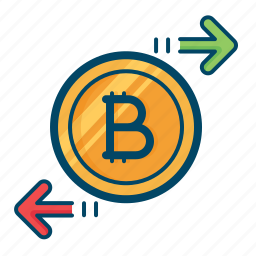bitcoin, chain, currency, exchange, finance, money, transfer icon
