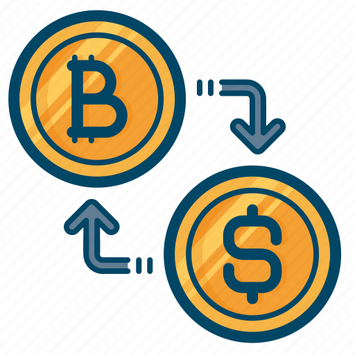 bitcoin, conversion, convert, currency, dollar, exchange, transaction icon