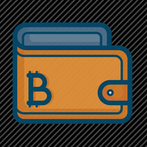 bitcoin, cash, finance, money, savings, wallet icon