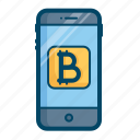 application, bitcoin, currency, online, payment, secure, transaction icon