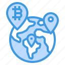 placeholder, bitcoin, cryptocurrency, map, globe