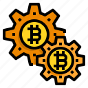 bitcoin, cryptocurrency, digital, money, gear