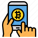 bitcoin, cryptocurrency, digital, currency, smartphone, buy