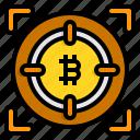 focus, bitcoin, cryptocurrency, aim, goal