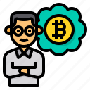 investment, vision, bitcoin, cryptocurrency, digital, currency