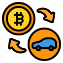 payment, bitcoin, cryptocurrency, digital, currency, car