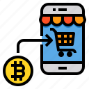 shopping, payment, bitcoin, cryptocurrency, digital, currency