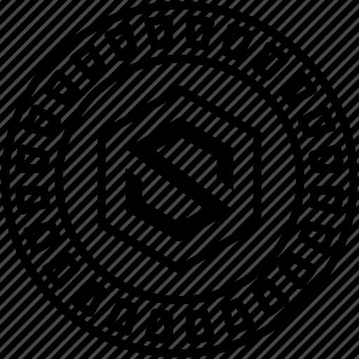 blockchain infrastructure, decentralization platform, digital currency, internet of service token, iostoken icon