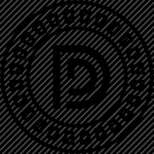 Alternative currency, cryptocurrency, digital currency, dim coin, dim coin currency icon - Download on Iconfinder