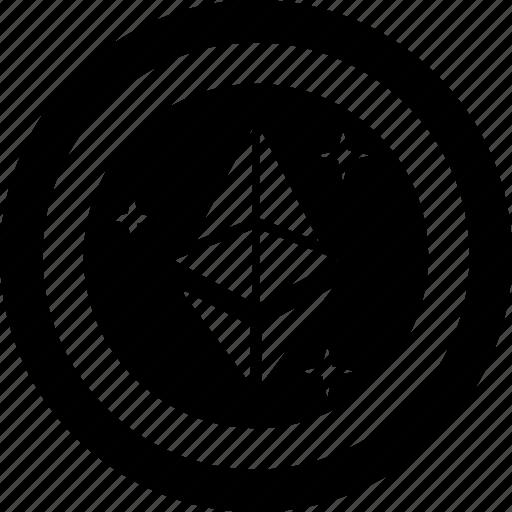 alternative currency, cryptocurrency, digital currency, ethereum, ethereum currency icon