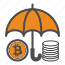 bitcoin, bitcoins, protect, save icon