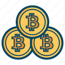 bitcoin, bitcoins, coin, coins icon