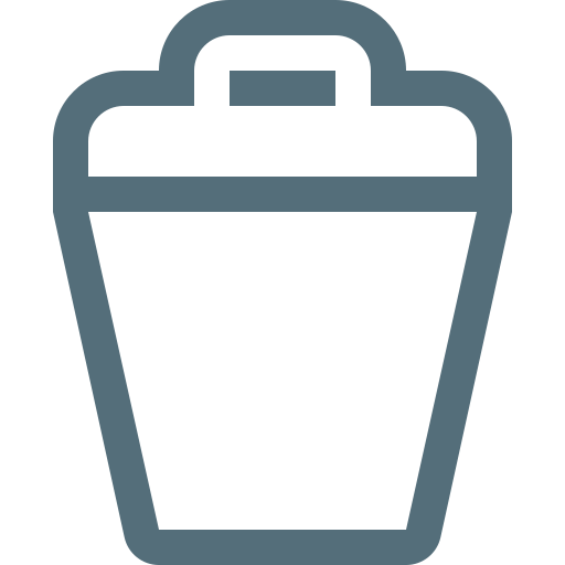 bin, dustbin, garbage, rubbish, trash, trashcan, waste icon