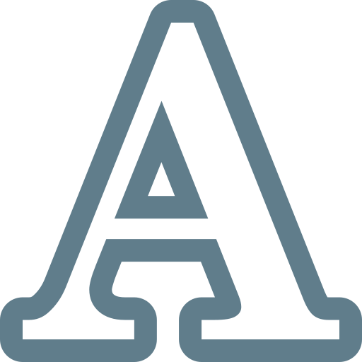 A, character, letter, text icon