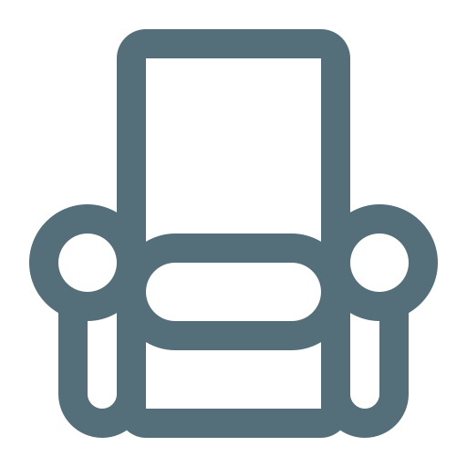 armchair, chair, couch, furniture, interior, lounge, seat icon