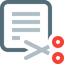 cut, document, file, page, paper, sheet, text icon