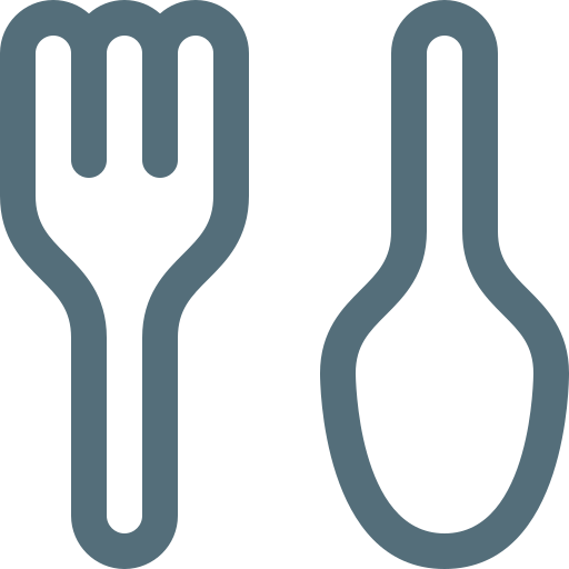 dinner, eating, food, fork, meal, restaurant, spoon icon