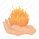 dark, fire, hand, magic, palm, white