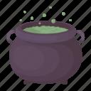 cauldron, dark, drug, magic, pot, potion, white icon