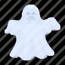 apparition, dark, ghost, magic, spook, white icon