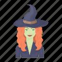 dark, hag, magic, sorceress, white, witch