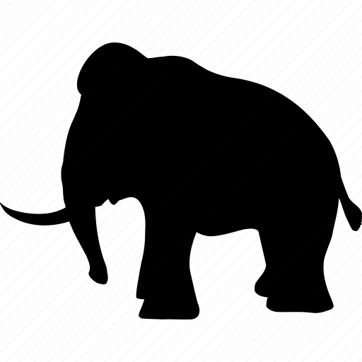 animals, dead animal, elephant, fang, historic, mammal, mamont icon