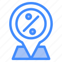 discount, pin, location, map, navigation, gps