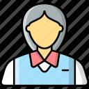 cashier, sales assistant, profession