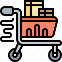 cart, shopping, supermarket, purchase, store