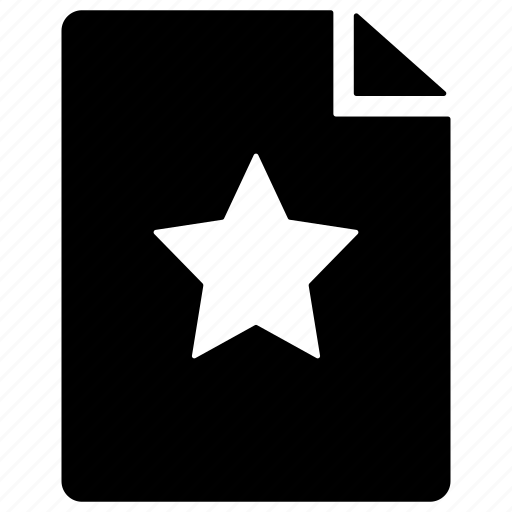 bookmark file, favorite document, favorite file, favorite page, important file icon