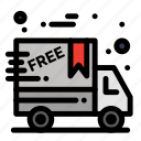 black, cyber, delivery, friday, monday icon