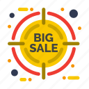 discount, friday, percentage, target icon