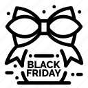 black, friday, ribbon, sale