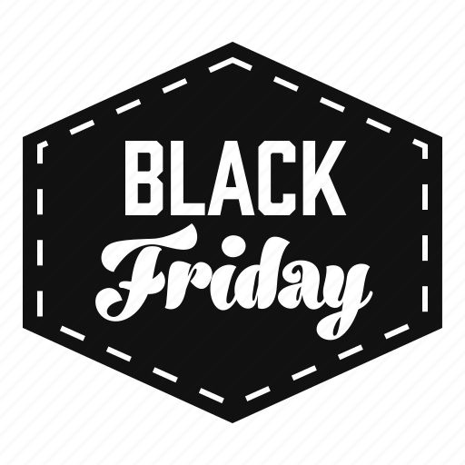 badge, black friday, discounts, labels, prices, promotions icon