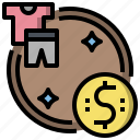 coins, commerce, currency, dollar, euro, exchange, money icon