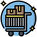 and, cart, commerce, online, shopping, store, supermarket icon