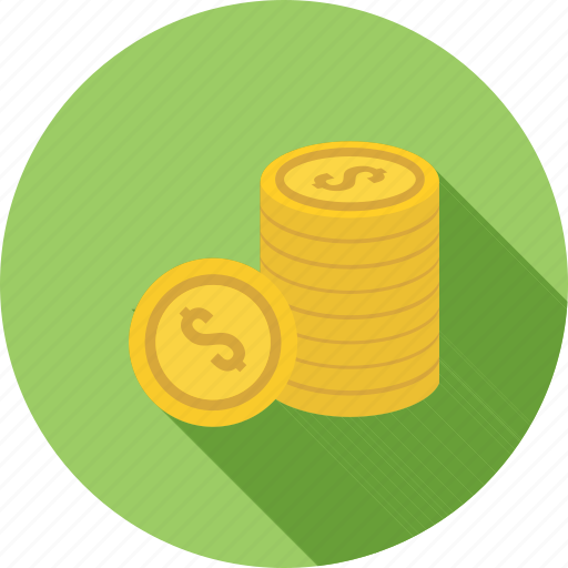 business, coin, coins, currency, dollar, money, savings icon