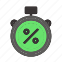 black friday, clock, commerce, discount, duration, time, timer icon