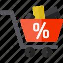 blackfriday, cart, discount, sale, shopping icon