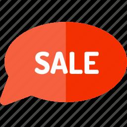 blackfriday, bubble, sale, speech icon