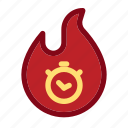 black friday, commerce, discount, hot, sale, time, trending icon