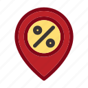 black friday, commerce, discount, location, map, mark, pin