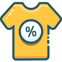 black friday, apparel, sale icon