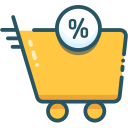 black friday, sale, trolley icon