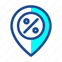black friday, commerce, discount, location, map, mark, pin icon