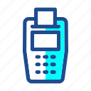 bill, black friday, cashier, commerce, credit card, payment, point of service icon