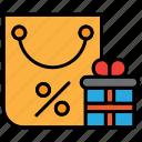 black friday, bonus, commerce, discount, gift icon