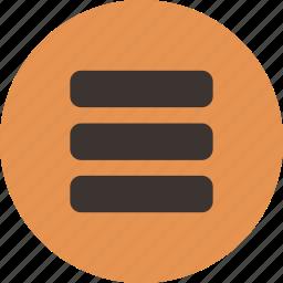 feed, list icon