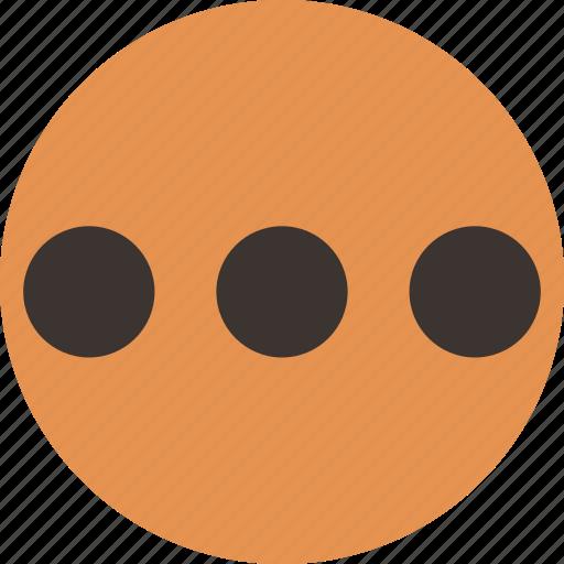dots, horizontal, others, three dots icon